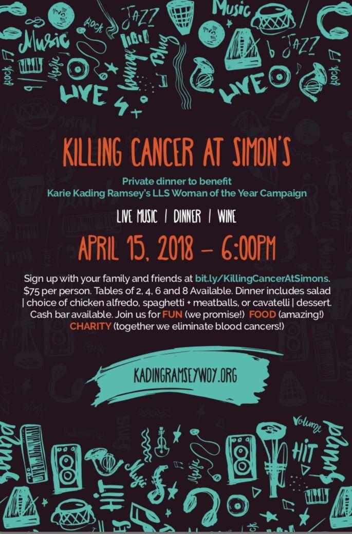 Killing Cancer at Simon's - Events - Universe