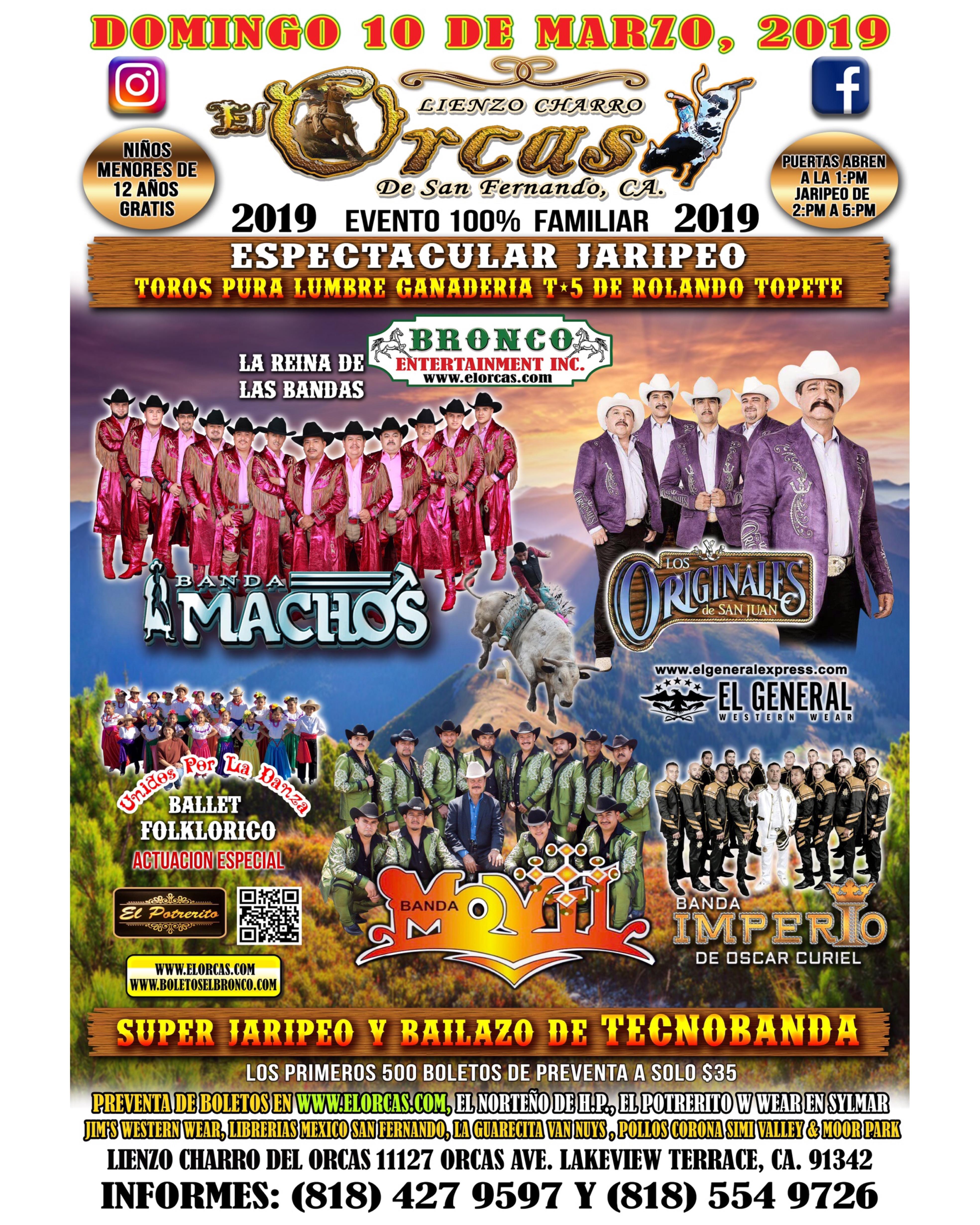 Gran Jaripeo - Banda Machos, Banda Movil & Los Originales de