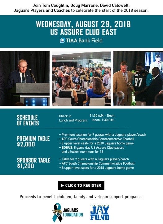 2018 JAGUARS BACK TO FOOTBALL LUNCHEON - Events - Universe