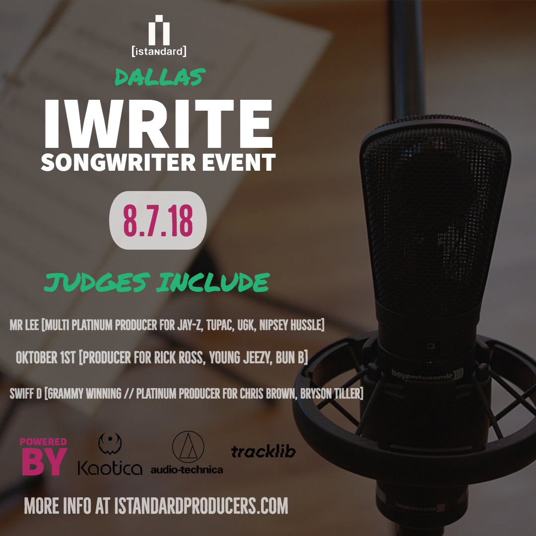 [iwrite songwriter experience - dallas]