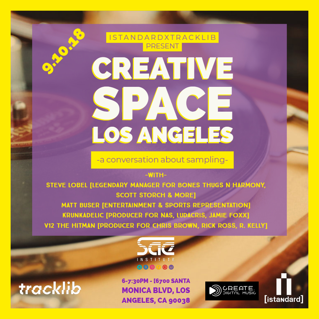 LA Creative Space [#ConvoAboutSampling] Powered by Tracklib