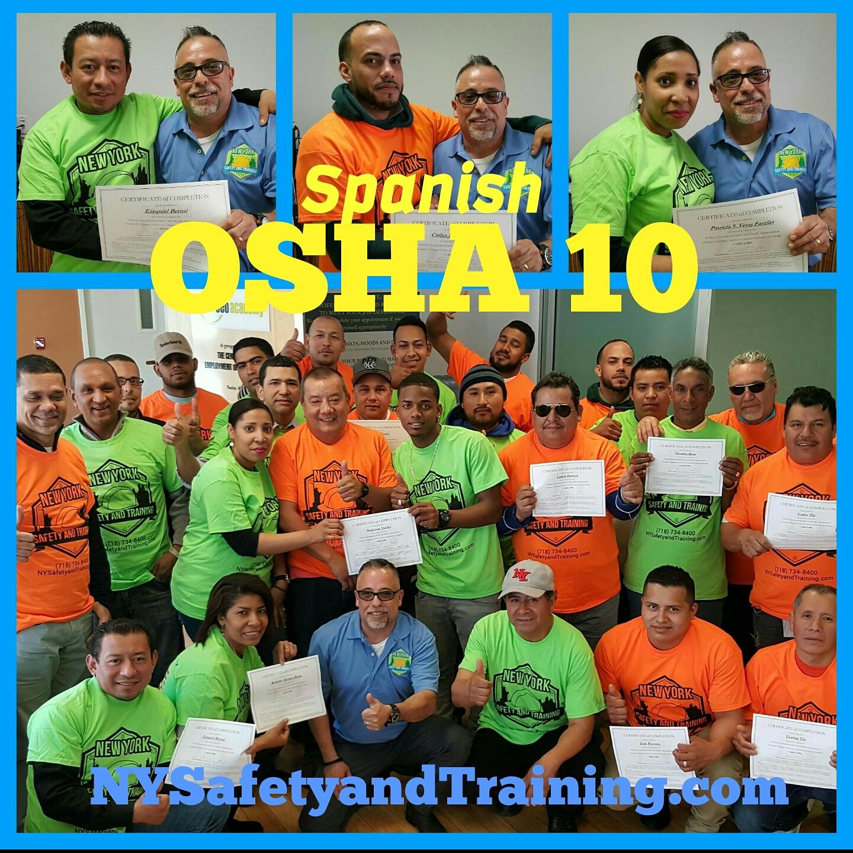 Bronx Osha 10 Construccion En Espanol 125 718 734 8400 Universe