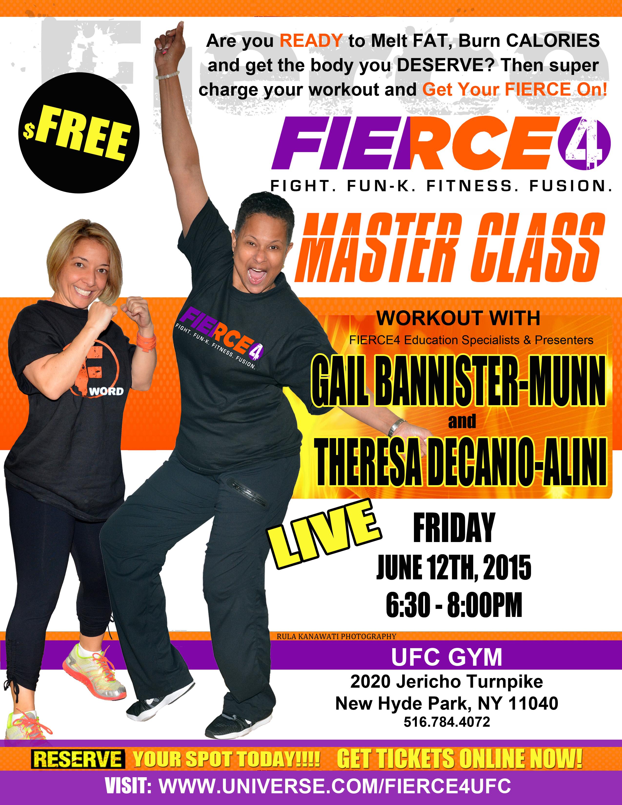 Fierce4 Master Class UFC Gym - Events - Universe