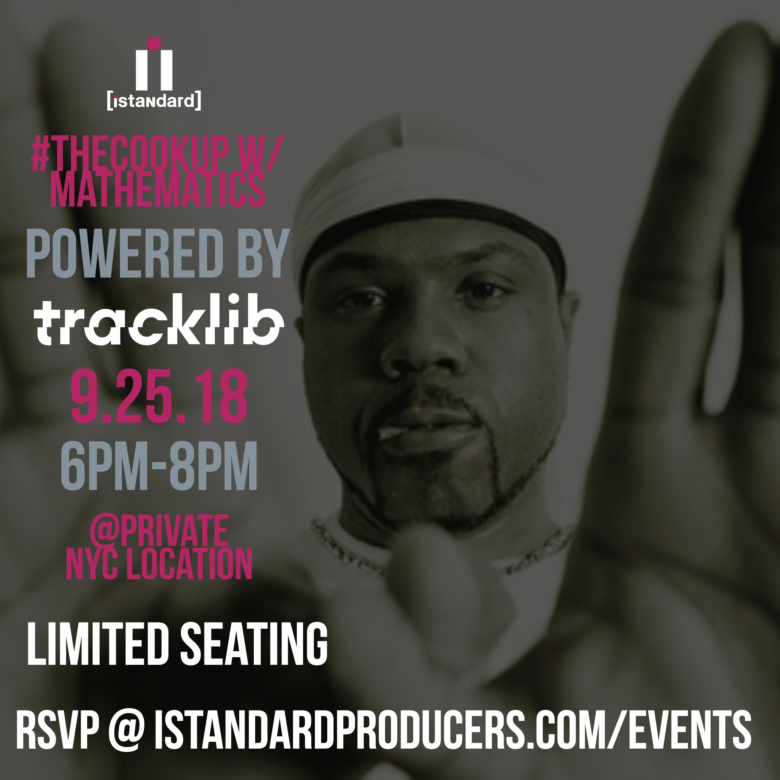 NYC 9/25] #TheCookUp w/ Mathematics [Powered by Tracklib
