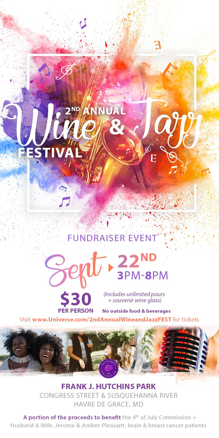 2nd Annual WINE & JAZZ Festival - Events - Universe