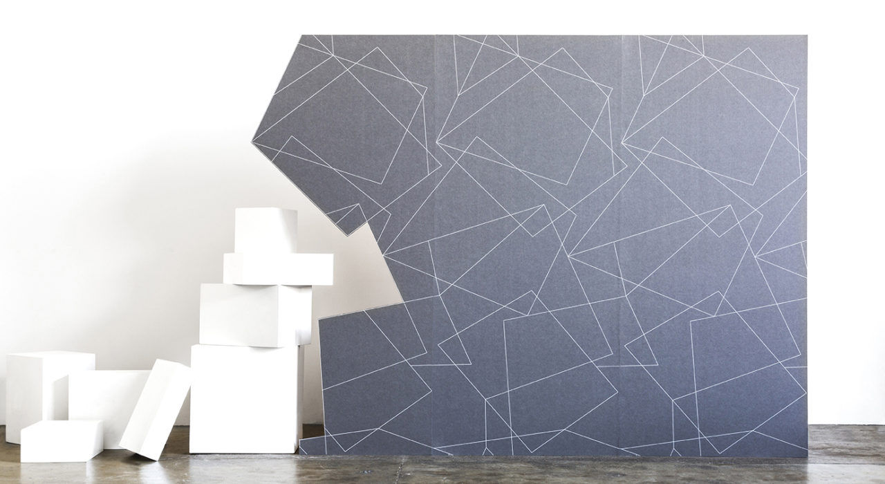 acoustic Ecoustic Axis White on Pewter panel