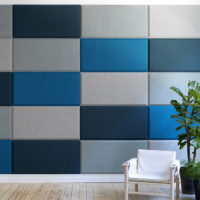 acoustic tile Domo Wall blue grey