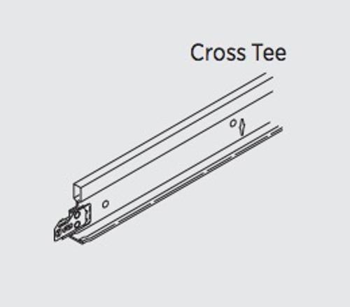 1 in x 2 ft USG Donn Brand DX/DXL Acoustical Suspension System Cross Tee - DX/DXL216-2662