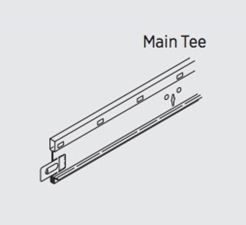 1.64 in x 12 ft USG Donn Brand DX/DXL Acoustical Suspension System Main Tee - DX/DXL24