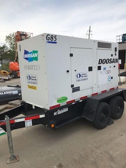 2015 Doosan G85WCU-3A-T4I Diesel Generator