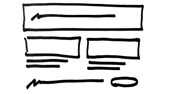 sketch of an email layout