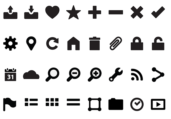 sample Illustrator icon set