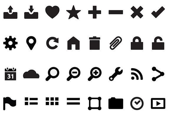 sample Illustrator icon set