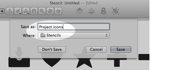 screen shot of stencils in OmniGraffle