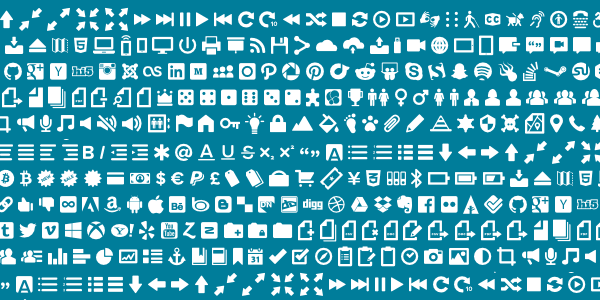 Illustration of many, many icons