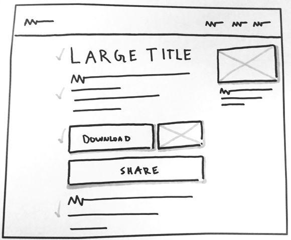 the checklist sketch
