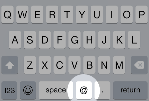 screen shot of a mobile keyboard