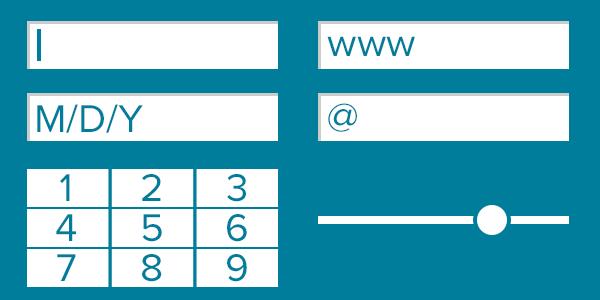 Illustration of HTML5 form fields