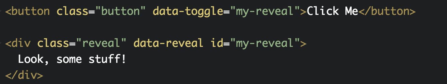 reveal example code