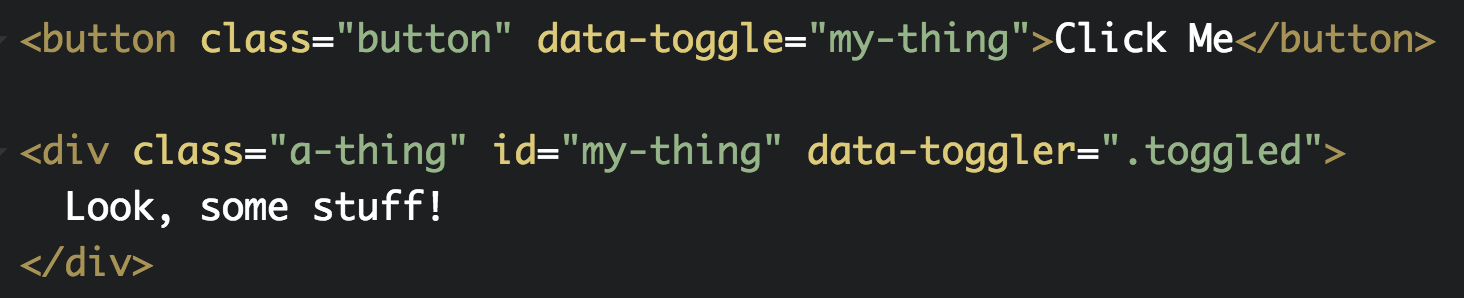 class toggle example code