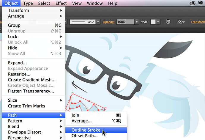 screenshot of how to save images for the web in Adobe Illustrator