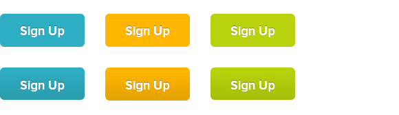 Examples of buttons with different gradients — some blatant, some subtle.