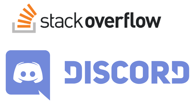 StackOverflow and Discord logos