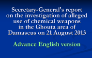 Secretary-General's report on the investigation of alleged use of chemical weapons in the Ghouta area of Damascus on 21 August 2013