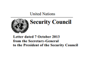 Letter from Secretary-General to Security Council President on OPCW-UN Joint Mission
