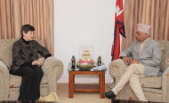 High Representative for Disarmament Affairs Angela Kane meets with Nepal's Minister for Foreign Affairs