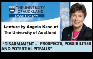 "High Representative Kane delivers lecture at the University of Auckland, New Zealand ""Disarmament - Prospects, Possibilities, and Potential Pitfalls"""
