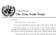 Leading up to entry into force on 24 December 2014, Arms Trade Treaty now has 130 signatories and 61 ratifications