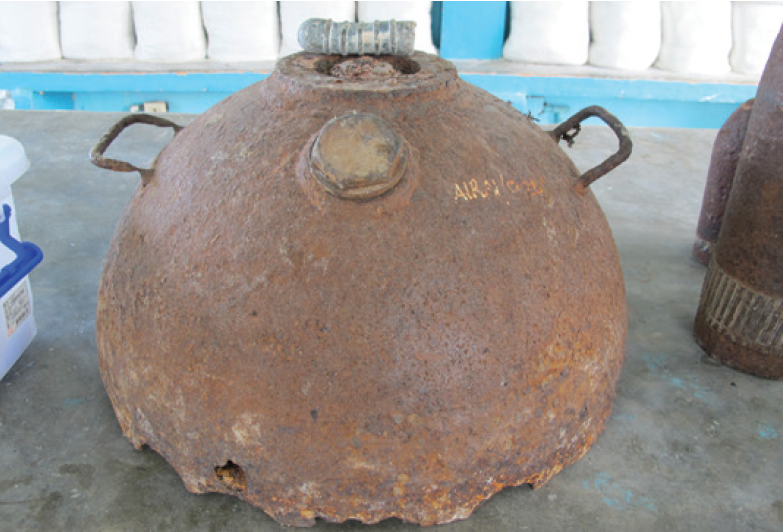 Sea mine in Palau