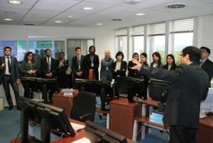 2013 UN Disarmament Fellows visiting the International Data Centre of the CTBTO