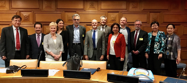 Meeting of Secretary-General Ban Ki-moon with the board members of his Advisory Board on Disarmament Matters, 2016.