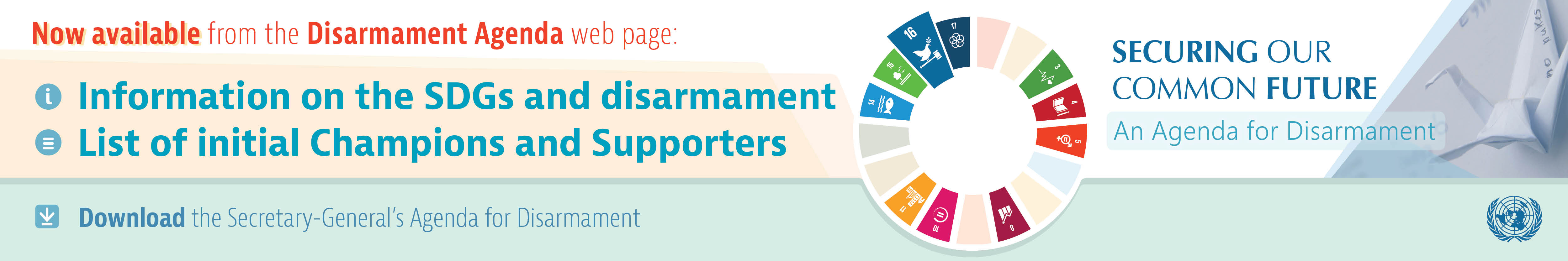 Now available from the Disarmament Agenda web page: