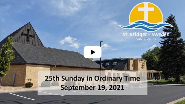 Twenty-Fifth Sunday in Ordinary Time