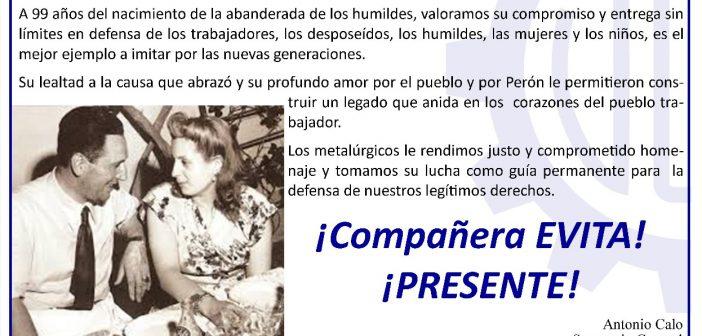 Nacimiento Eva Perón