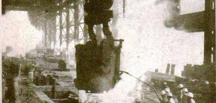 1ª Colada de Arrabio 11 de octubre de 1945