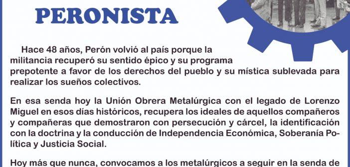 Nacimiento del Militante Peronista