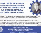 La Muerte de Eva Perón 1952 -26 de julio- 2021