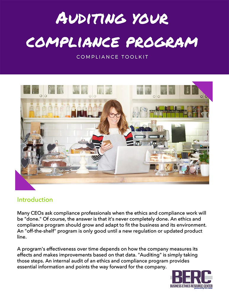 Auditing your Compliance Program