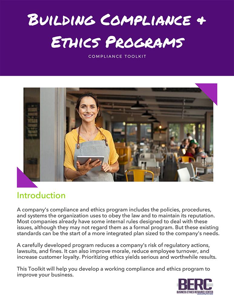 Building Compliance & Ethics Programs