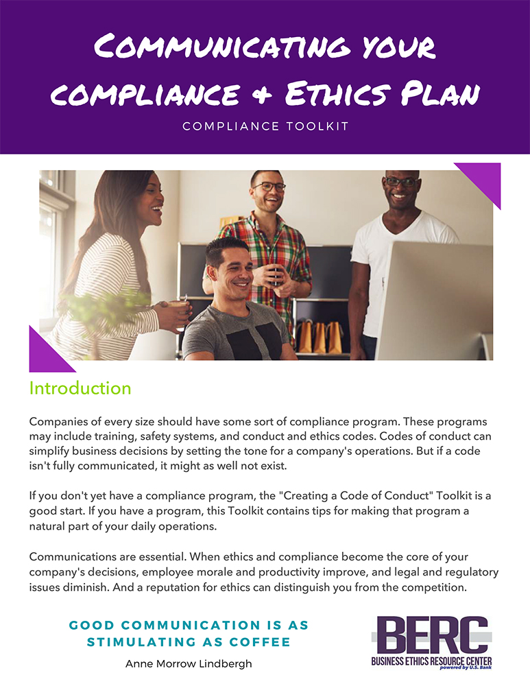 Communicating your compliance and ethics plan