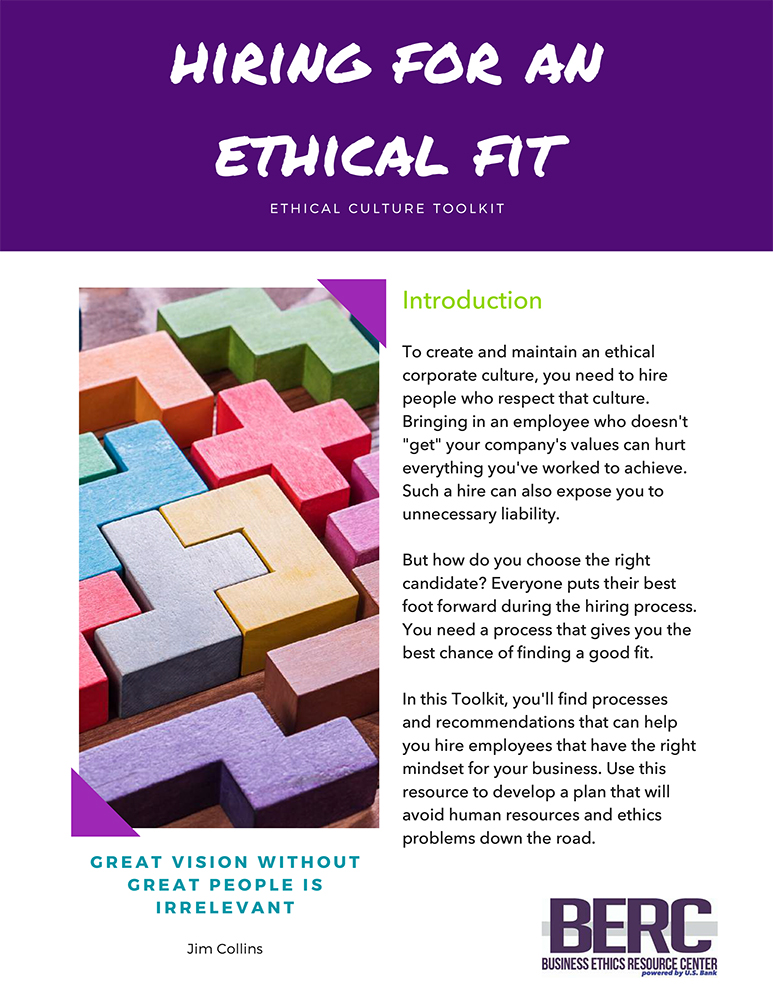 Hiring for an ethical fit