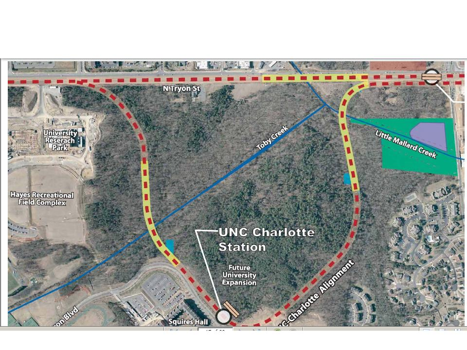 UNC-Charlotte light rail corridor