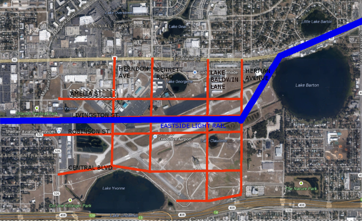 Master Plan with Light Rail