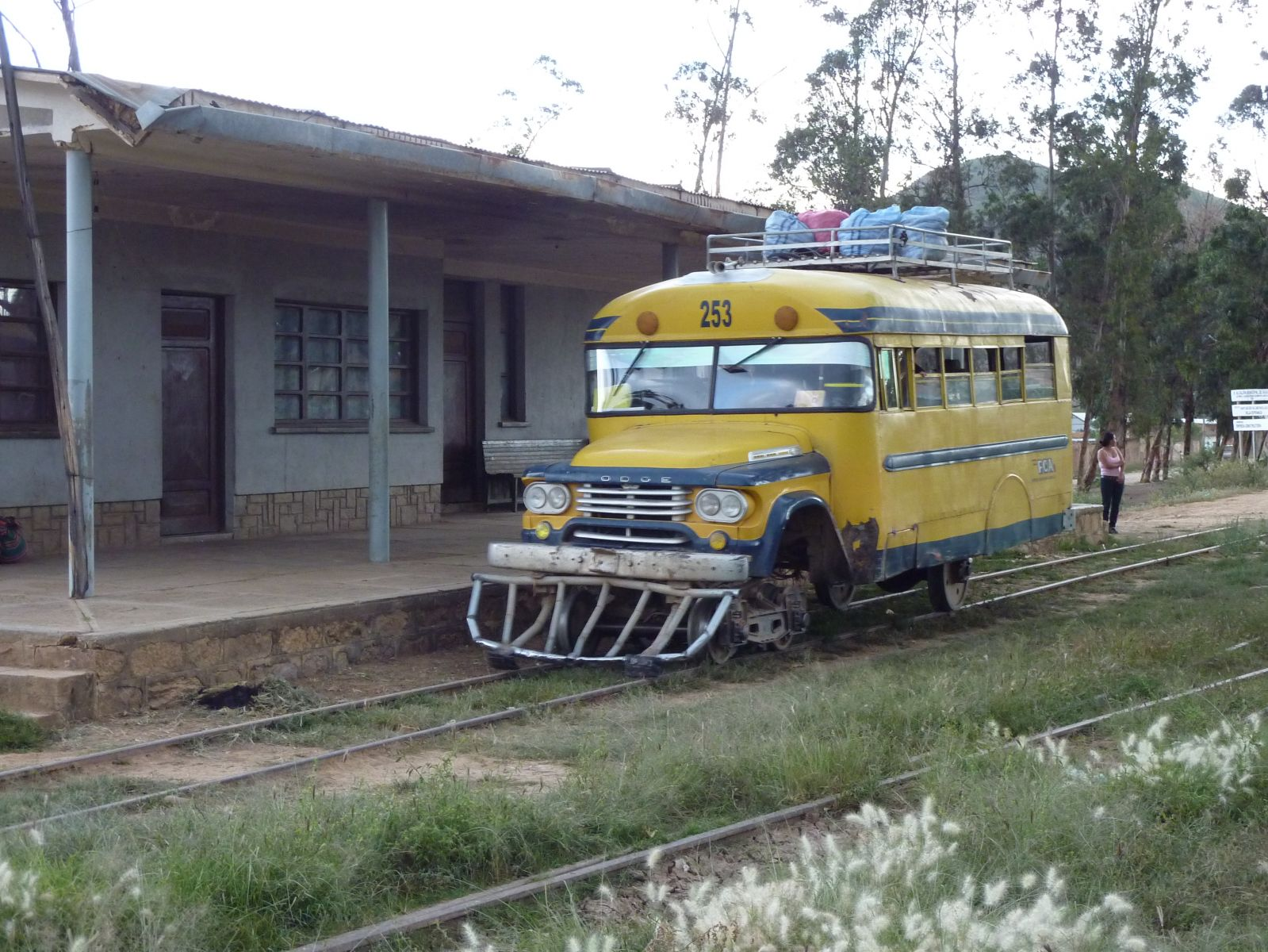 Railbus and station