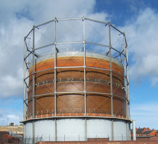Gasholder Floating - also known as 'Gasometer' or 'Towngas' bell (tank)