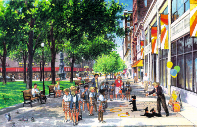 Monroe Center - Monument Square Concept